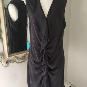 Yoana Baraschi Dress Size 8 Gray Sheath Silk